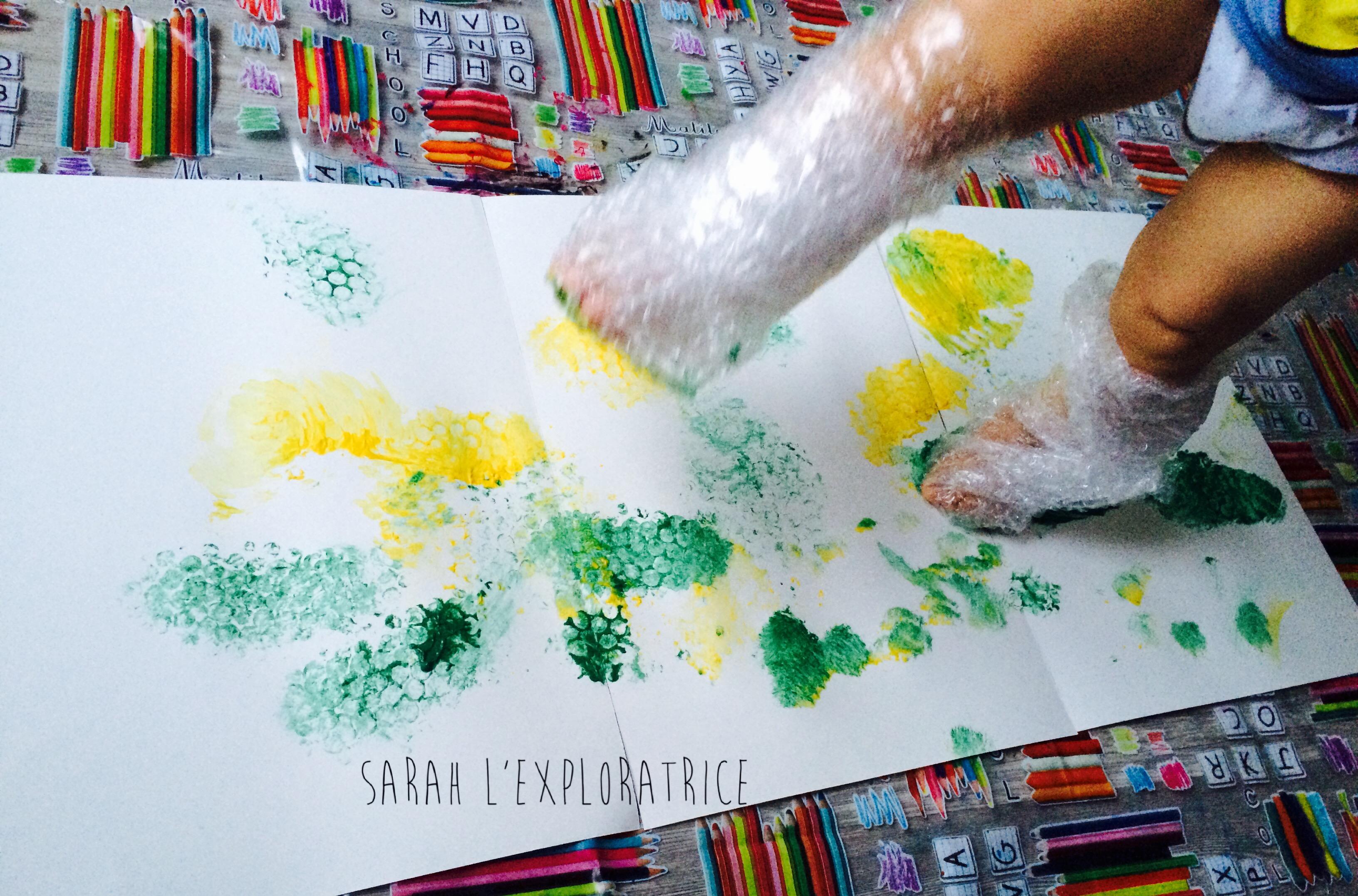 Activite Peinture Papier Bulles Sarah L Exploratrice